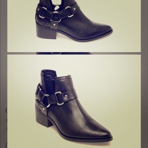 Steve Madden Lee black leather bootie size 9
